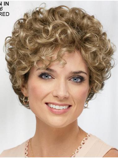 "8"" Gelockt Blond Kunsthaar Stil Kurze Perücken"