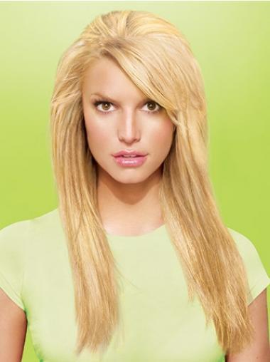 Modische Glatten Blonden Clip in Haar Extensions