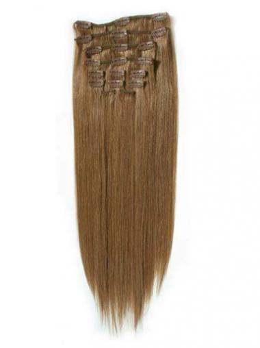 Flexibilitäte Glatten Blonden Clip in Haar Extensions
