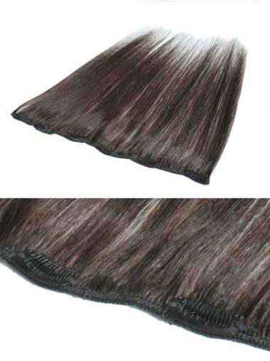 Wunderbare Glatten Braunen Clip in Haar Extensions