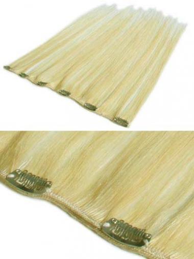 On-line Glatte Blonden Clip in Haar Extensions