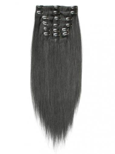 Beste Glatten Schwarz Clip in Haar Extensions