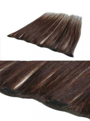 Haarschnitt Glatte Rotbraunen Clip in Haar Extensions