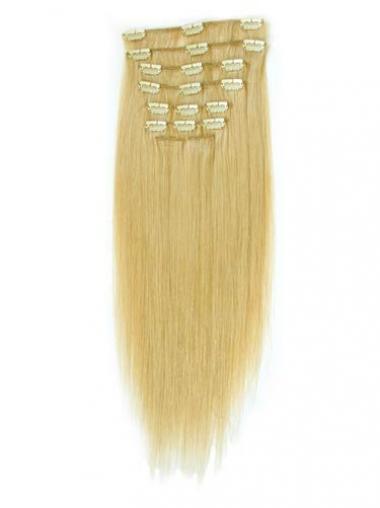 Tope Glatten Blonden Clip in Haar Extensions