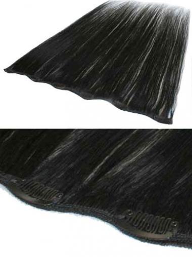 Neue Glatten Schwarzen Clip in Haar Extensions