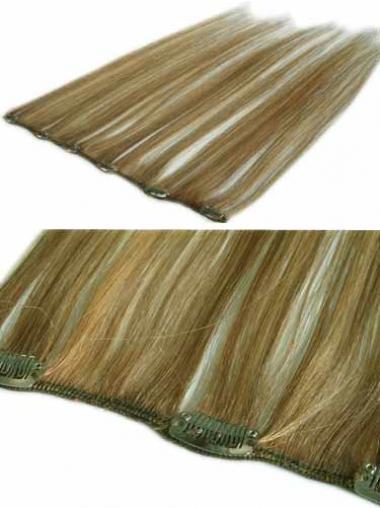 Weiche Glatten Blonden Clip in Haar Extensions