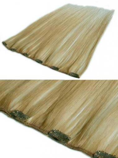 Dauerhafte Glatten Blonden Clip in Haar Extensions