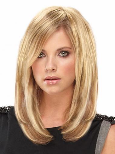 Moderne Glatten Blonden Clip in Haar Extensions