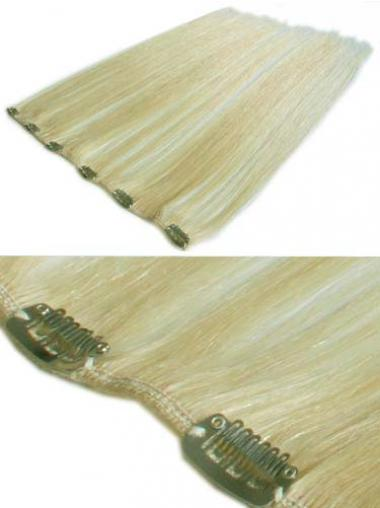 Bequeme Glatten Blonden Clip in Haar Extensions