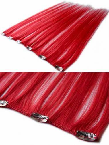 Modische Glatten Schwarzen Clip in Haar Extensions