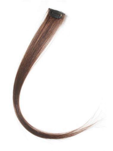 Stile Glatten Rotbraunen Clip in Haar Extensions