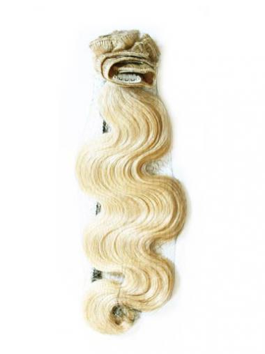 Geeignete Gewellten Blonden Clip in Haar Extensions