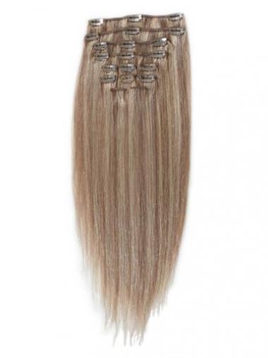 Billige Glatten Blonden Clip in Haar Extensions