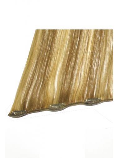 Attraktive Glatten Blonden Clip in Haar Extensions