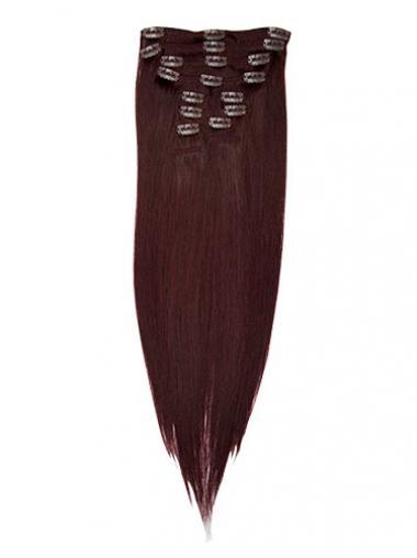 Wunderbare Glatten Roten Clip in Haar Extensions