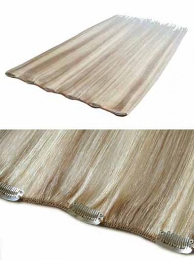 Hochwertige Glatten Blonden Clip in Haar Extensions