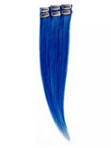 Haarschnitt Glatte Schwarzen Clip in Haar Extensions