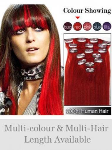 Geeignete Glatten Roten Clip in Haar Extensions
