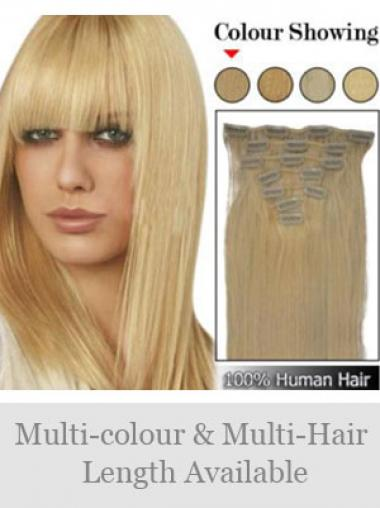 Erschwingliche Glatten Blonden Clip in Haar Extensions