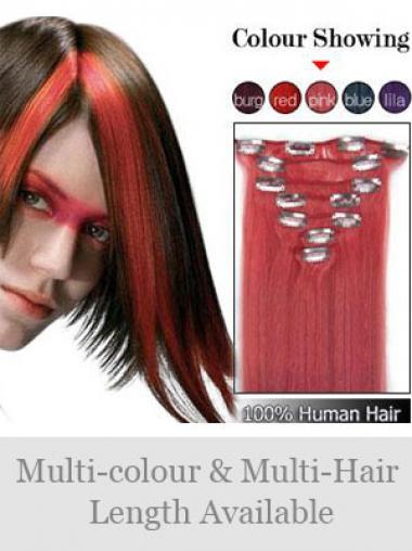 Erstaunliche Glatten Roten Clip in Haar Extensions