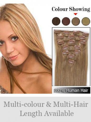 Populäre Glatten Blonden Clip in Haar Extensions