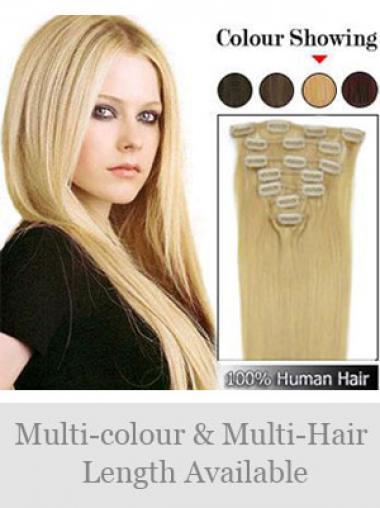 Exquisite Glatten Blonden Clip in Haar Extensions