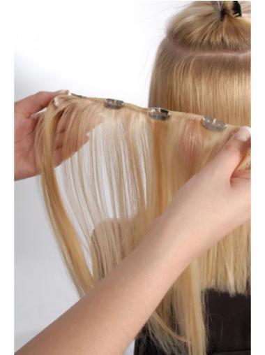 Perfekte Glatten Blonden Clip in Haar Extensions