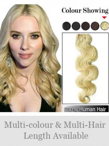 Blonde Gewellten Billigen Spinnende Extensions