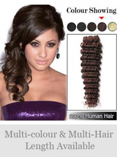 Rotbraune Gewellten Haarschnitt Spinnende Extensions