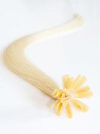 Billige Blonden Nagel/U Tip Haar Extensions