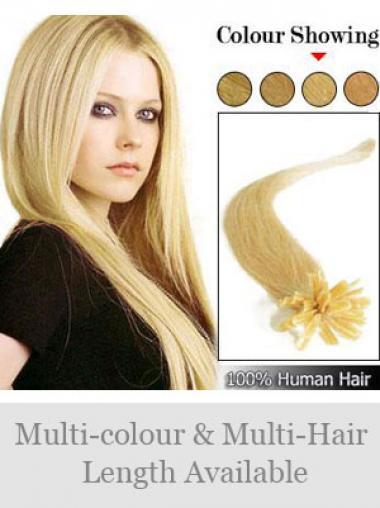 Moderne Blonden Nagel/U Tip Haar Extensions