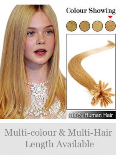 Bequeme Blonden Nagel/U Tip Haar Extensions