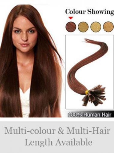 Perfekte Rotbraunen Nagel/U Tip Haar Extensions