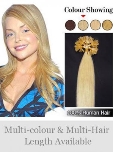 Idealen Blonden Nagel/U Tip Haar Extensions