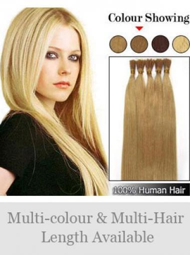 Blonde Bequemen Stick/I Tip Haar Extensions