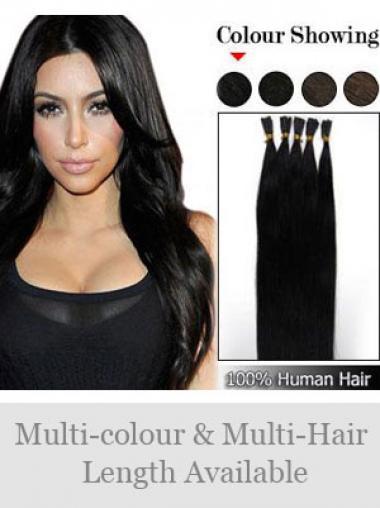 Schwarze Perfekten Stick/I Tip Haar Extensions
