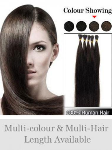 Braune Modischen Stick/I Tip Haar Extensions