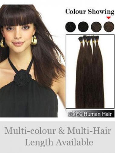 Schwarze Bequemen Stick/I Tip Haar Extensions