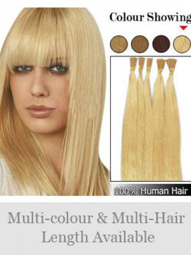 Blonde Sehr Wunderbaren Stick/I Tip Haar Extensions
