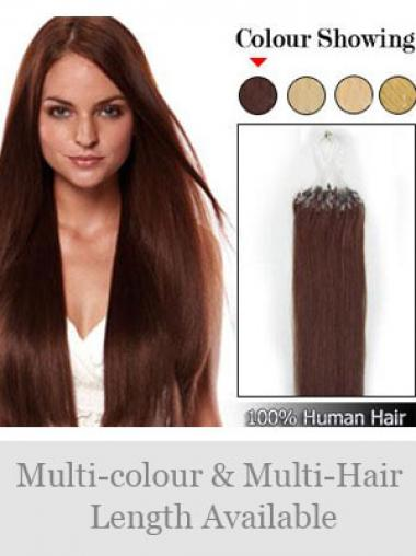 Haarschnitt Rotbraune Micro Loop Ring Haar Extensions