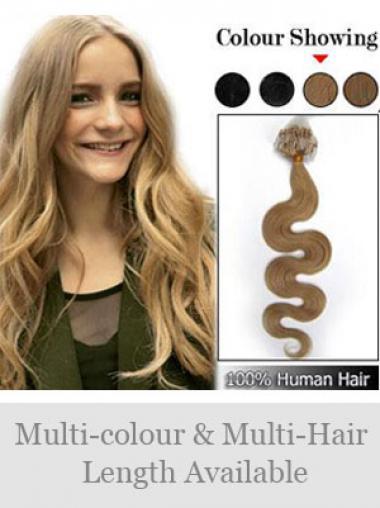 Moderne Blonden Micro Loop Ring Haar Extensions