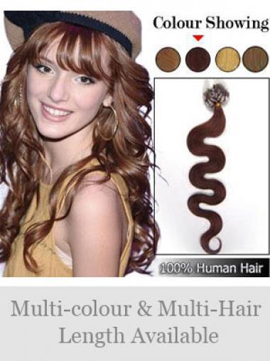 Komfortable Rotbraunen Micro Loop Ring Haar Extensions