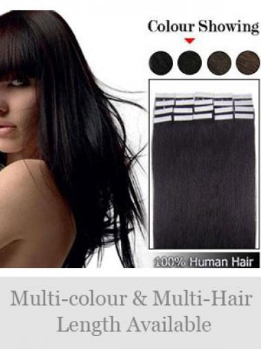 Schwarze Glatten Großen Tape in Haar Extensions
