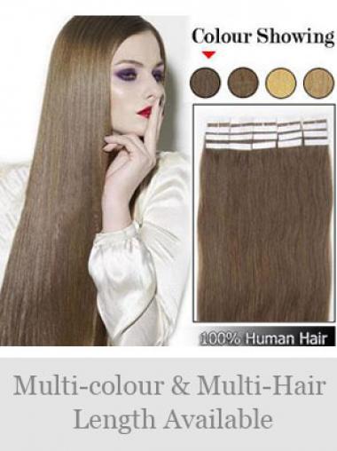 Braune Glatten Perfekten Tape in Haar Extensions