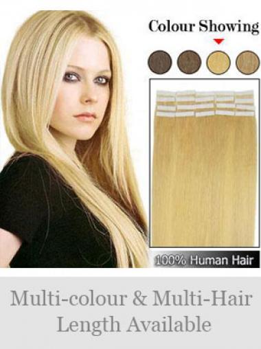 Blonde Glatten Idealen Tape in Haar Extensions