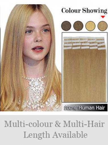 Blonde Glatten Modischen Tape in Haar Extensions