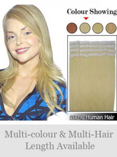 Blonde Glatten Männerlichen Tape in Haar Extensions
