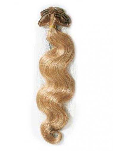 Blonde Gewellten Geeigneten Tape in Haar Extensions
