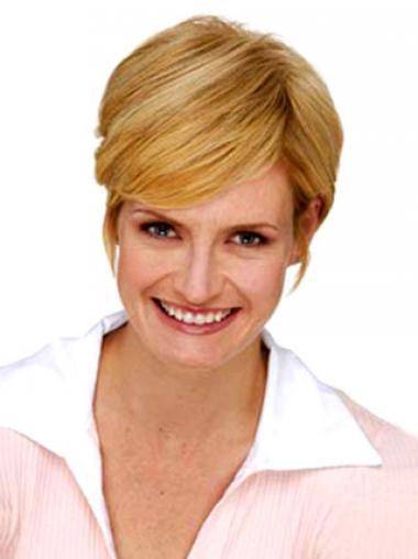 Hübsche Glatten Blonden Clip In Haarteile