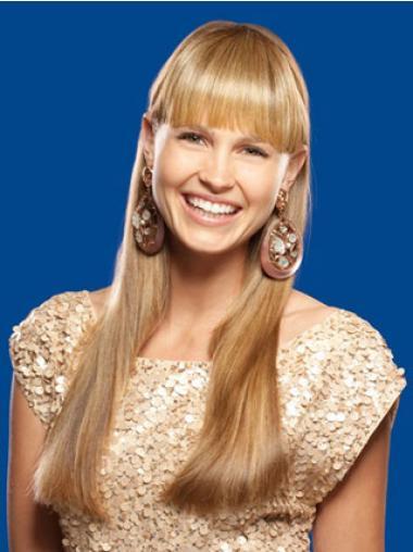 Hochwertige Glatten Blonden Clip In Haarteile